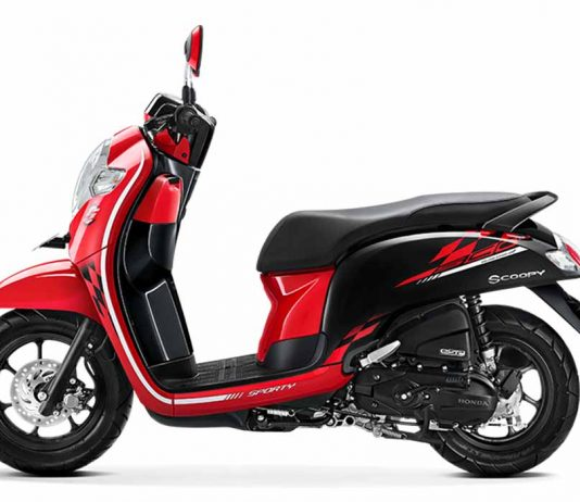 New Scoopy 2018 Sporty Red