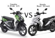 Yamaha X Ride Vs Honda Beat Street