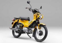 Honda Cross Cub 110 2018 Yellow Depan