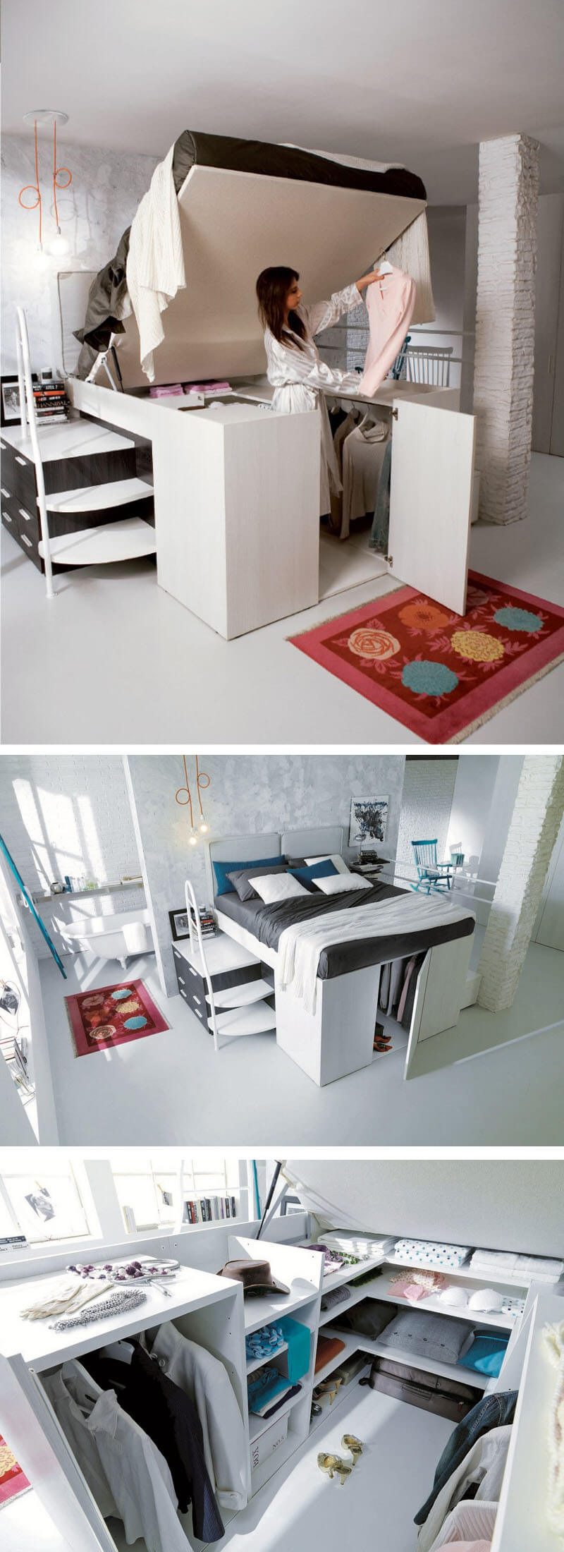 Bed And Closet Combo